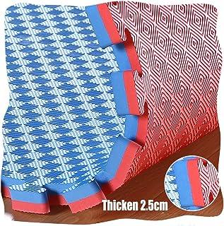 YANGJUN Interlocking Foam Mats Kids Double Sided Non-slip Waterproof Wear Resistant Protection Checkered Pattern Thicken, ...