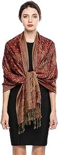 Pashmina Scarf Rave Women Scarves Luxury Winter Scarf Paisley Shawl with Fringe Reversible Large Blanket Wrap 78.5