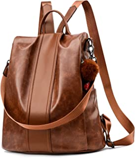 Women Backpack Purse PU Leather Anti-theft Backpack Casual Satchel Shoulder Bag for Girls