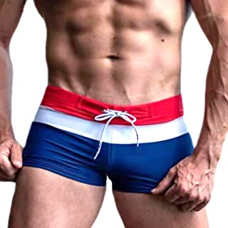 Taddlee Sexy Swimwear Men's Swimsuits Swim Board Surf Boxer Briefs Trunks Shorts (XL, Red)