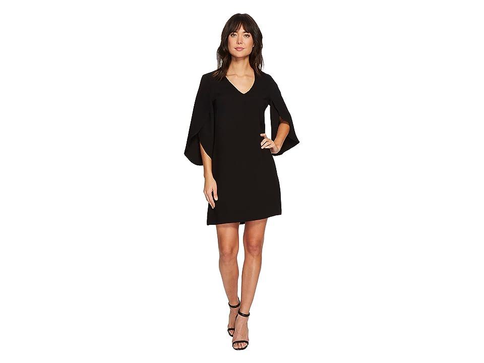 Karen Kane Split Sleeve Shift Dress (Black) Women