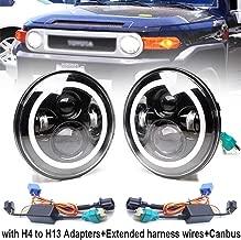 2x 7inch 120W Round LED Headlight DRL Headlamps High/Low Dual Beam Lamp H4 H13 Adapter Halo Ring Amber Turn Single Light For TOYOTA LAND CRUISER FJ40 FJ45 FJ50 FJ55 FJ60 FJ62 FJ70