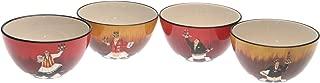 Certified International Bistro 5-1/2-Inch Ice Cream Bowl, Set of 4 Assorted Designs