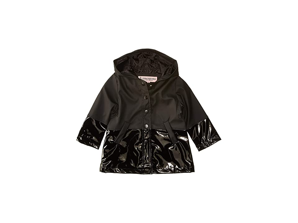 Urban Republic Kids Raincoat Anorak Jacket (Infant/Toddler) (Black) Girl