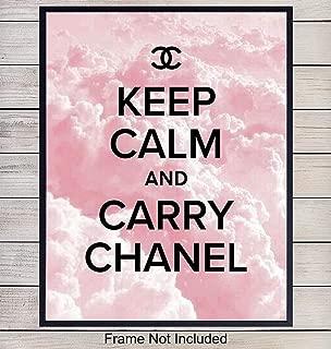 Chanel Designer Fashion Art Print, Wall Art Poster - Inspirational Motivational Chic Home Decor for Bedroom, Girls, Teens Room, Office, Living Room, Dorm - Gift for Fashionistas, 8x10 Photo