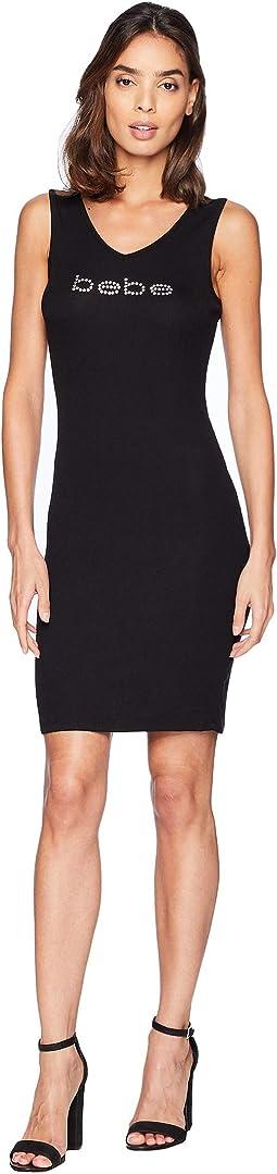 V-Neck Sleeveless Logo Dress