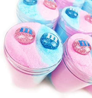 Cotton Candy M&M Twist - Cloud slime with Charms