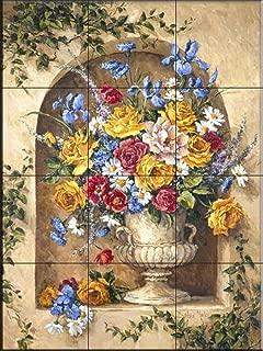 Ceramic Tile Mural - Neo Classic Alcover II- by Barbara Mock - Kitchen backsplash/Bathroom Shower