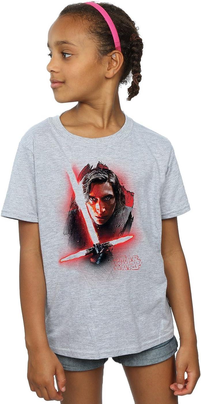 STAR WARS Girls The Last Jedi Kylo Ren Brushed T-Shirt 12-13 Years Sport Grey
