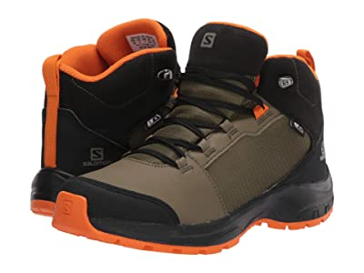 Salomon Kids OUTward CSWP (Little Kid/Big Kid) (Burnt Olive/Black/Exuberance) Kid