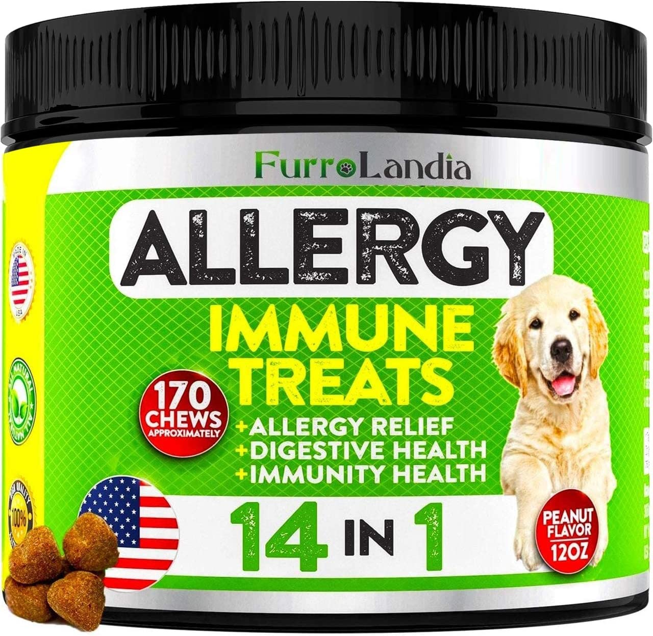 Allergy Relief Immune Supplement for Dogs - Seasonal Allergies, Itch...