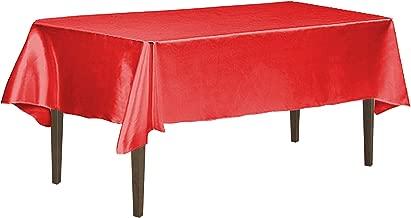 LinenTablecloth 60 x 126-Inch Rectangular Satin Tablecloth Red