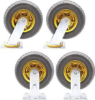 Heavy duty wielen, 360 graden, transportwielen, universele mand, draaiplaat, castor, stil, rubberen wiel, 4 stuks