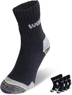 Calcetines de trabajo para hombres y mujeres, calcetines funcionales robustos, calcetines de algodón transpirables ideales para los zapatos de trabajo
