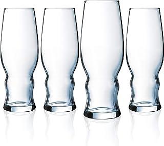 Luminarc Craft Brew 16 Ounce Medford Pilsner, Set of 4, 16-Ounce, Clear