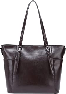 Clearance! CHERRY CHICK Women's Cowhide Leather Shoulder-Handbag Everyday Tote Purse