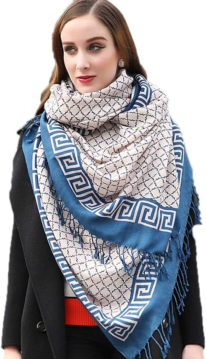 Cold Weather Scarves Scarf Ladies Scarf Ladies Shawl Fashion Wrapped Tassel Scarf Multifunctional Wool Scarf Ethnic Wind Travel Shawl Winter Soft Cloak New Year Gift Wraps
