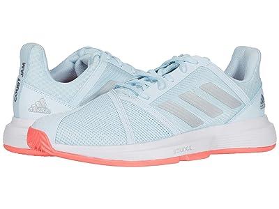 adidas CourtJam Bounce (Sky Tint/Silver Metallic/Signal Pink) Women