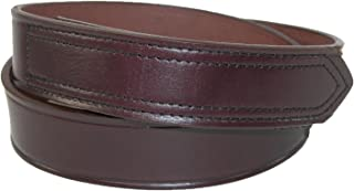 Boston Leather Mens Leather 1 3/8 inch hook and loop No Scratch Work Belt