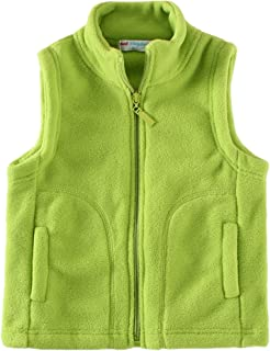 Kids' Fleece Vests Zipper Solid for 2-8 Years Old