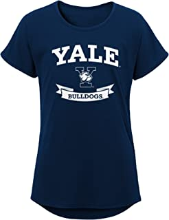 NCAA Yale Bulldogs Girls Outerstuff Short Sleeve Dolman Tee, Team color , Youth Large (12-14)