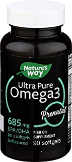 Natures Way, Ultra Pure Omega-3 Prenatal Dha Unflavored, 90Count