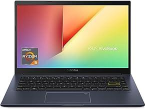 "ASUS VivoBook 14 Thin and Light Laptop, 14"" FHD IPS Display, Ryzen 5 3500U, 8GB DDR4 RAM, 256GB PCIe SSD, Webcam, Backlit ..."