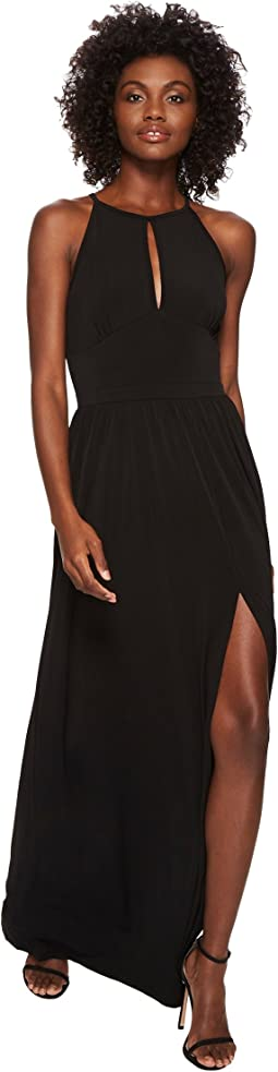 MICHAEL Michael Kors Solid Halter Maxi Dress