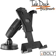iBOLT Tabdock BizMount -Holder/Mount with Suction Cup Base- for Your Windshield, Dashboard, or Desk - Compatible with All 7