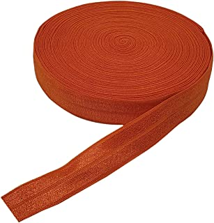 CLEARANCE|8 Yards 12 Inch Orange Decorative Pattern Lingerie Elastic|Headband Elastic|Skinny Narrow Stretch Lace|Bra Strap EL104