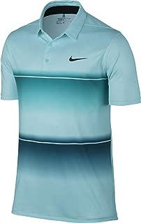 Nike Golf Mobility Stripe Polo (Rio Teal/Copa/Anthracite) L