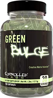 Controlled Labs Green Bulge Supplement, 30 Servings Advanced Creatine Matrix Volumizer, Improve Strength, Stamina, Perform...