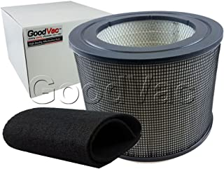GOODVAC Replacement for Filter Queen Defender 4000 Bundle Kit- 1 Replacement HEPA Air Filter + 1 Carbon Prefilter Wrap