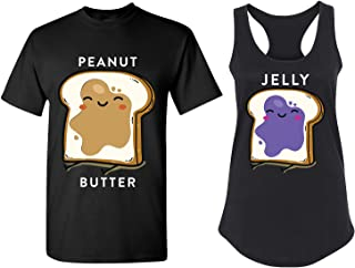 Cute Matching Couple T Shirts - His and Hers Racerback Tank Tops