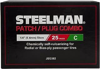 Steelman JSG382 1/4 Zoll Reifenreparatur Patch/Stecker Kombination, Box mit 25 Stück