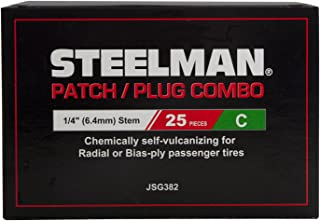 Steelman JSG382 1/4-Inch Tire Repair Patch/Plug Combo, Box of 25