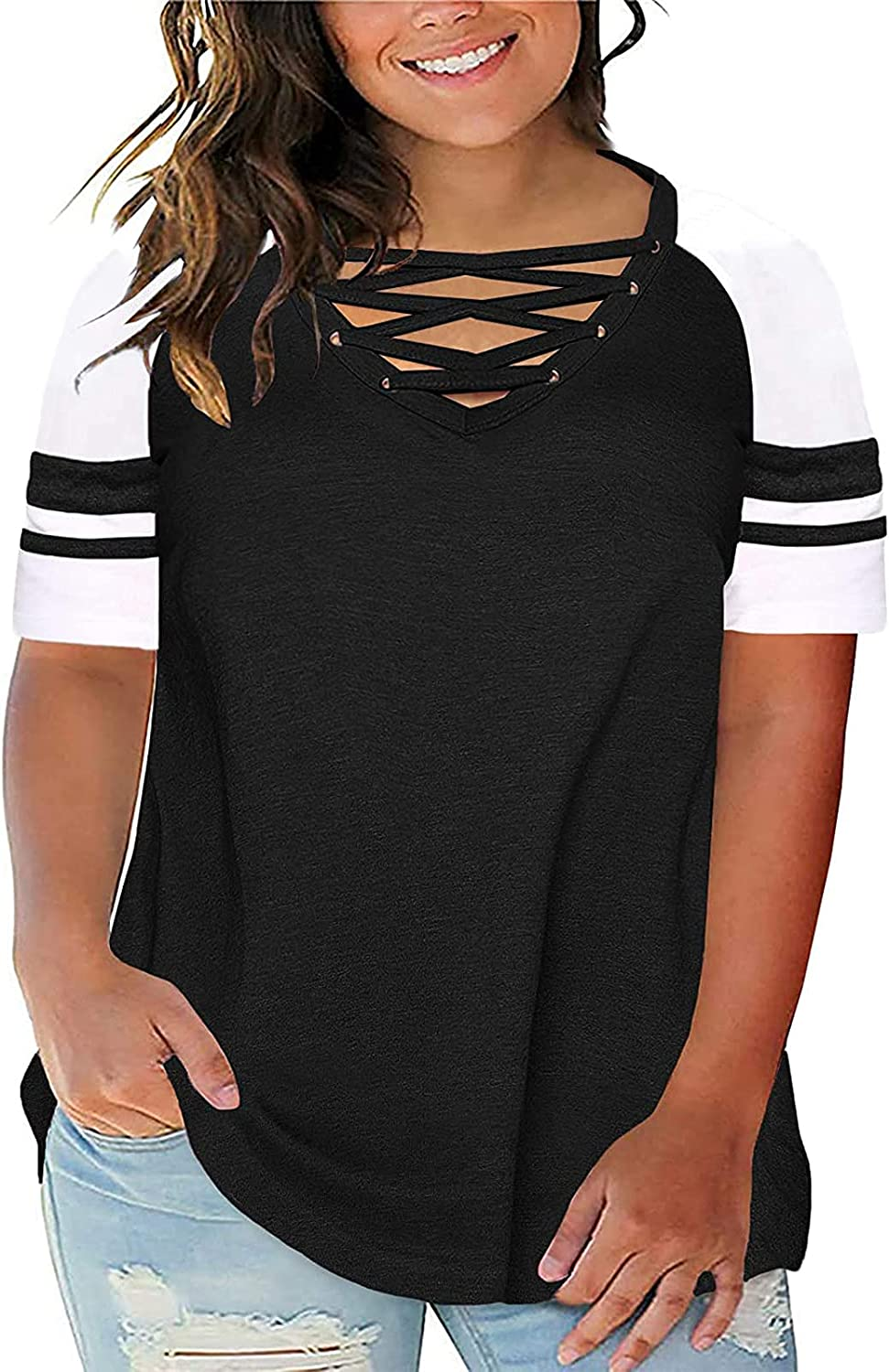 Max 73% OFF Women Blouses and Tops Fashion for Size V-Neck Work Recommended Plus