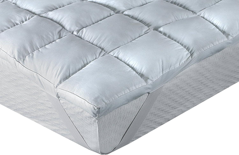 Classic Blanc letto da 90 media durezza altezza 6,5 cm 90 x190 cm Topper // sovramaterasso in fibra con aloe vera Tutte le misure