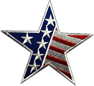 USA America bandera - Parches termoadhesivos bordados aplique para ropa, tamaño: 9,5 x 9,5 cm