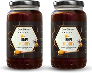 Societe Naturelle - Raw Honey Organic Unfiltered - 1 KG - Pack of 2 / Certified Honey / Pure Raw Unpasteurized Unprocessed...