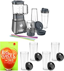 Cuisinart CPB-380 Power Compact Blender with Four Travel Cups and Recipe Book Bundle (3 Items)