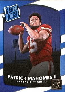 2017 Donruss #327 Patrick Mahomes II Kansas City Chiefs Rated Rookie Football Card