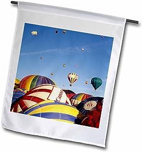 3dRose fl_92524_1 Hot Air Balloons, Albuquerque, New Mexico-Us32 Bba0015-Bill Bachmann Garden Flag, 12 by 18-Inch