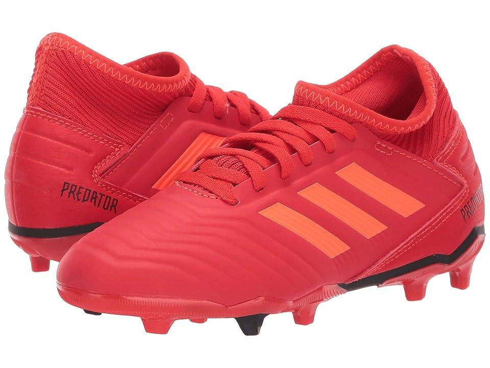 adidas Kids Predator 19.3 FG Soccer (Little Kid/Big Kid) (Active Red/Solar Red/Black) Kids Shoes