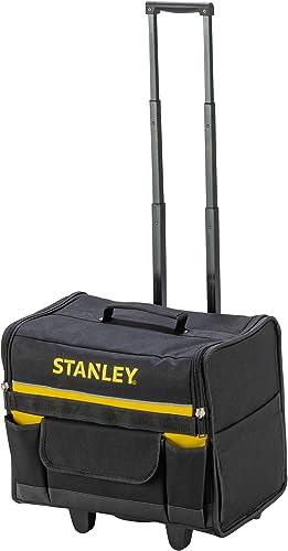 Stanley 1-97-515 Sac Souple À Roulettes 600x 600 deniers - Structure Rigide - 2 Pieds de maintien - Poche pour Docume...