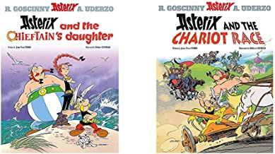 Asterix and the Chieftain's Daughter: Album 38+Asterix and the Chariot Race: Album 37 (Set of 2 Books)