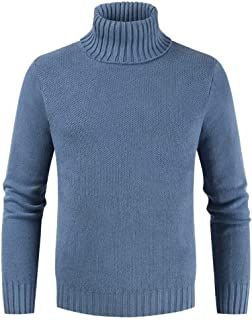 Sweaters Basic Men Winter Men Thin Knit Thickening Warm Pullover Turtleneck Sweaters Sweatshirt High Neck Sweaters United ...