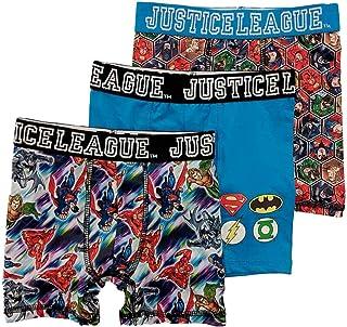 6bf963eefc6f Justice League Boys 3pc Boxer Briefs Superman & Batman Boxer Shorts Set