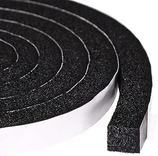 Maximum Compression Sponge 1 X 1/2 Inch, Rubber Foam Strip Adhesive for Insulation, Weatherstrip, Gap Blocker, Anti-Vibration, Anti-Collision, 6.5 Feet Long, 2 Pcs