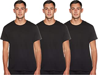 BOSS Men's T-Shirt RN CO/EL, Black-001, Medium (pack of 2)